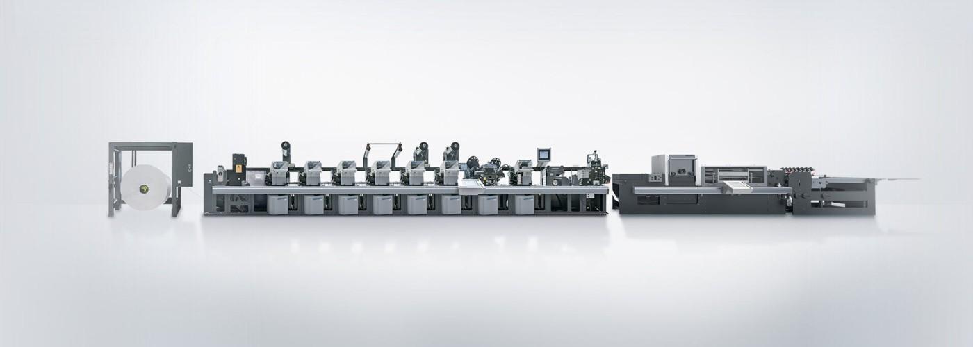 Inline flexo printing presses and die-cutters